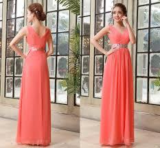 tarik ediz chiffon peach bridesmaid dress prom gowns 2015 cheap