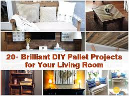 Diy Livingroom by 20 Brilliant Diy Pallet Projects For Your Living Room