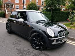 2002 52 reg mini cooper black white leathers great car 1249 in