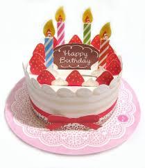 strawberry birthday cake lights u0026 melody pop up birthday greeting