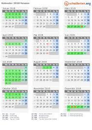 Kalender 2018 Hessen Ausdrucken Kalender 2018 Ferien Hessen Feiertage