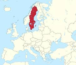map of sweden file sweden in europe rivers mini map svg wikimedia commons