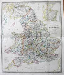 Map Of Wales And England by A Map Of England Wales U0026 Scotland Describing All The Direct And