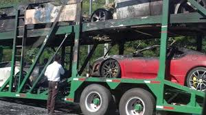 used lexus for sale in thailand trailer packed with supercars goes up in flames in thailand video
