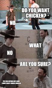 Walking Dead Meme Rick Crying - rick and carl 3 cool pinterest captions