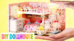 How To Make Homemade Dollhouse Furniture How To Make A Miniature Dollhouse Room 1 Youtube