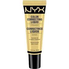 yellow primer color correcting liquid primer nyx cosmetics primer and makeup