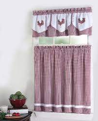 36 Inch Kitchen Curtains by Amazon Com Rooster 3 Piece Complete Tier And Valance Set 54 By