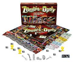 amazon com zombie opoly board game lateforthesky toys u0026 games