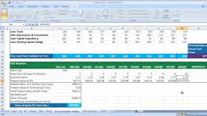 Discounted Flow Analysis Excel Template Dcf Discounted Flow Valuation In Excel