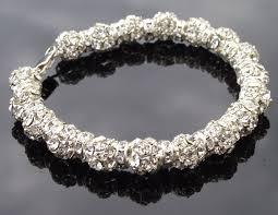 swarovski silver crystal bracelet images Wedding crystal bracelet swarovski crystal encrusted bracelet jpg