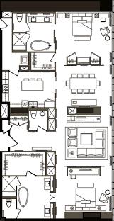 Two Bedroom Floor Plans Penthouse 2 Bedroom Floor Plan C Mandarin Oriental Citycenter