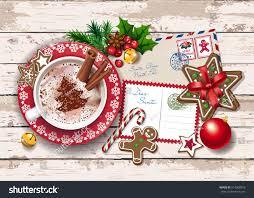 christmas card letter santa lights big stock vector 514900918