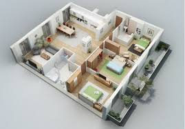 layout ruangan rumah minimalis gambar denah rumah 3 kamar tidur lengkap dengan keterangannya