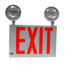 exit emergency light combo lc8 2 exit emergency combo encore lighting lighting
