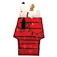 snoopy christmas dog house product works peanuts snoopy woodstock dog house yard