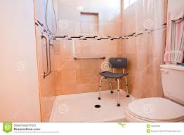 Handicap Accessible Bathroom Floor Plans Handicapped Shower Stall Stock Photos Image 18566583
