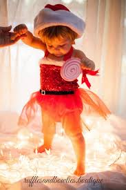 Santa Sequin Baby Girl Christmas Ruffle Tutu Romper  Christmas Outfit