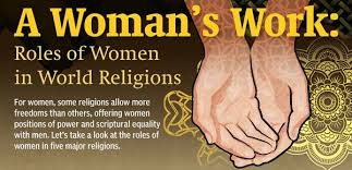 what is the role of women in world religions infographic