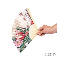 Large Oriental Wall Fans by Oriental Folding Hand Fan Assortment