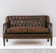Leather Button Sofa Vintage Leather Button And Stud Sofa Living Dining Room