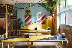 use bold and playful colours at home this melbourne cafe shows