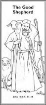 jesus as the good shepherd coloring pages with jesus the good