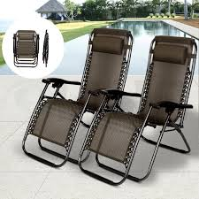 Anti Gravity Rocking Chair by 2 Pcs Zero Gravity Folding Lounge Beach Chairs Outdoor Recliner In
