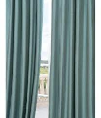 Blue Silk Curtains Faux Dupioni Silk Curtains Foter