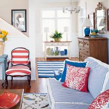 red and blue bedroom coastal colors red white blue coastal living