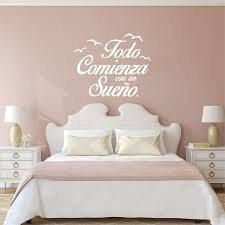 bedroom spanish quote vinyl wall stickers bedroom wall decals