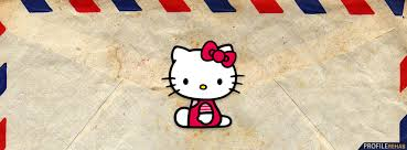 cute hello kitty letter facebook cover