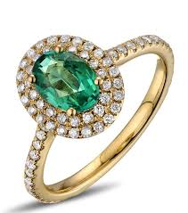 vintage emerald engagement rings vintage 2 carat emerald and diamond halo engagement ring in