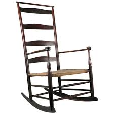 Rocking Chair Makers 1890 Shaker 6 Mushroom Capped Rocker Chair With Shawl Bar At 1stdibs
