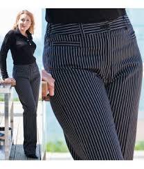 pantalon cuisine noir de cuisine dame rayures noir et blanc
