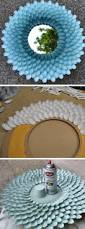 chrysanthemum mirror made from plastic spoons click pic for 20