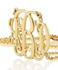 gold monogram gold monogram necklace personalized jewelry