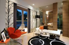 modern living room design with a touch of rustic furniture white