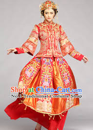 Chinese Wedding Dress Supreme Chinese Bride Wedding Dress And Hair Accessories Complete Set