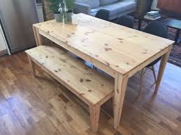 ikea nornäs drop leaf table u0026 bench in pine 100 to pickup today