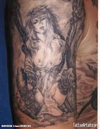 female back tattoo designs back u003e gallery for u003e woman warrior tattoo warrior symbol tattoos