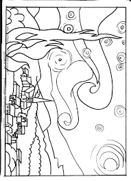 famous painting coloring page