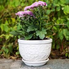 8 Pots by Pennington Ceramic Vintage Floral Pot Planter 8 Inch Walmart Com