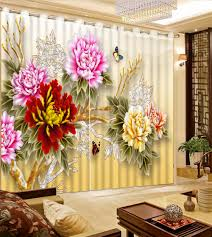online get cheap living room curtains drapes aliexpress com modern 3d curtains luxury curtains for bedroom or flower landscape living room bedroom curtains drapes cotinas