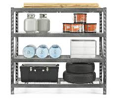 gladiator gars774szg tool free 4 shelf 8000 pound capacity rack