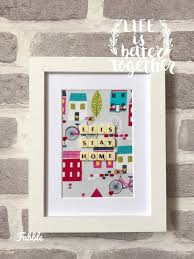 house warming present lets stay home frame new homeowner gift housewarming present