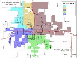 Dr Map City Map U0026 Wards City Of Macomb Illinois