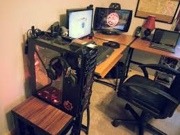 l shaped gaming computer desk incredible gaming l shaped desk within computer onsingularity com