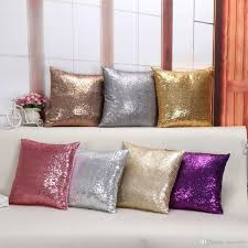 Square Sofa Pillows by 2016 Sequin Cushion Cover 40 40cm Multicolors Solid Color Glitter