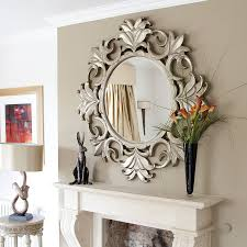 mirror decor ideas uncategorized decorating living room wall mirror within nice